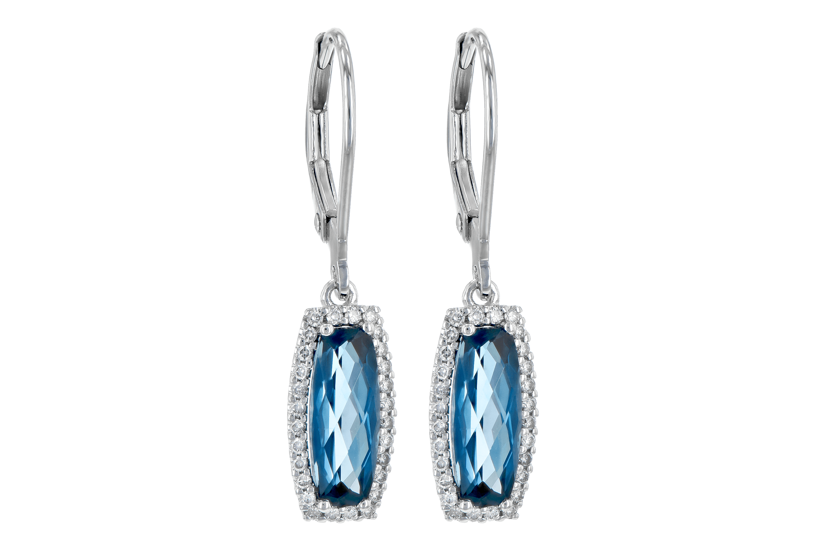A190-15213: EARR 2.10 LONDON BLUE TOPAZ 2.28 TGW
