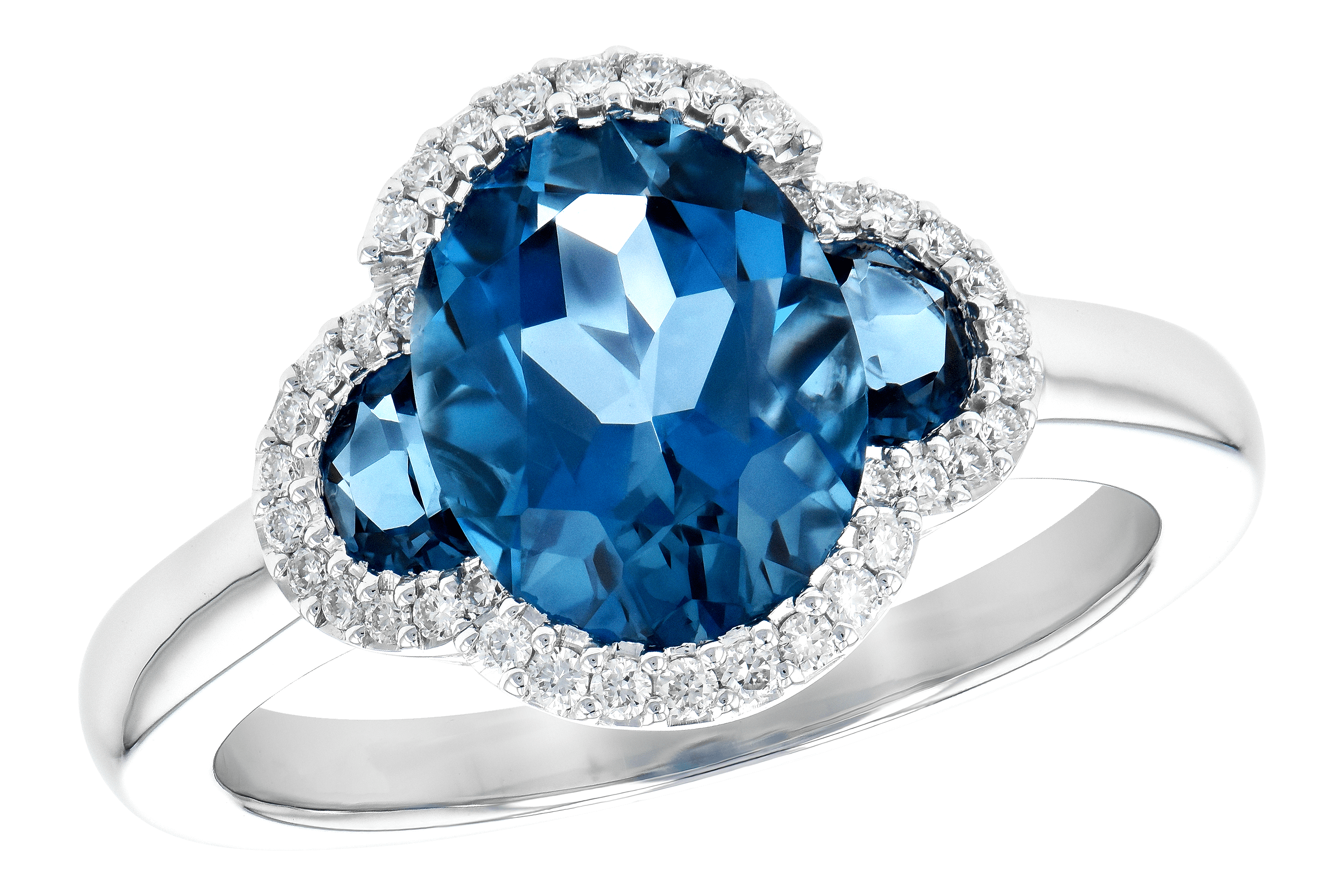 A190-15240: LDS RG 3.04 TW LONDON BLUE TOPAZ 3.20 TGW