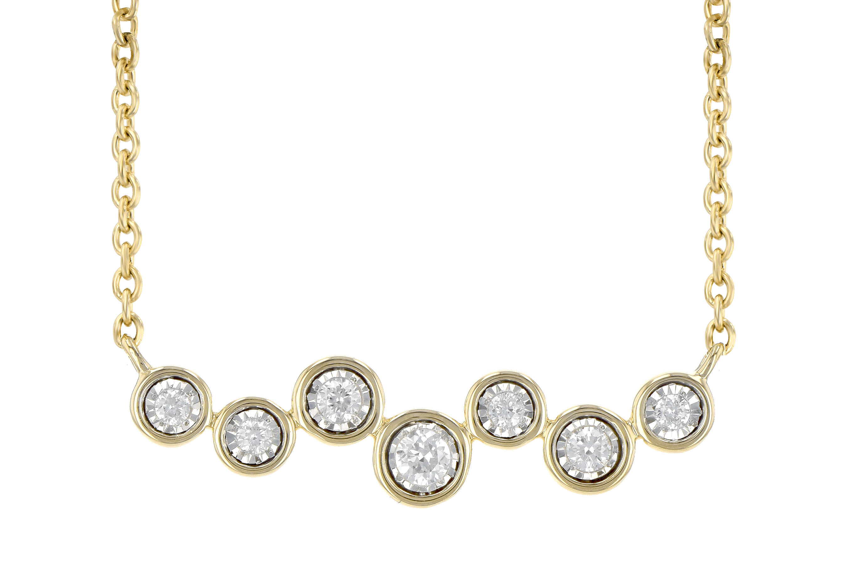 C190-16177: NECKLACE .13 TW