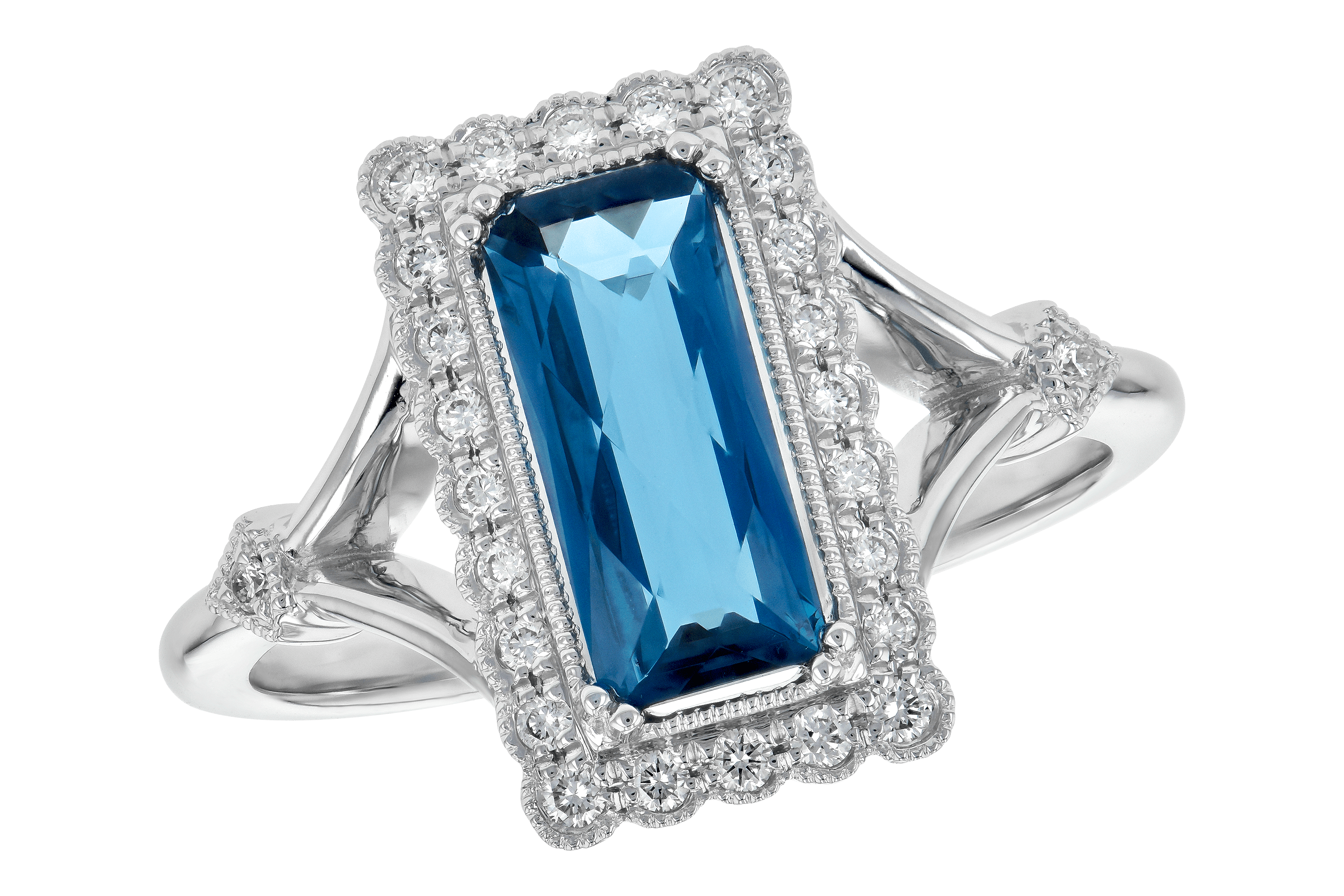 E190-15258: LDS RG 1.58 LONDON BLUE TOPAZ 1.75 TGW
