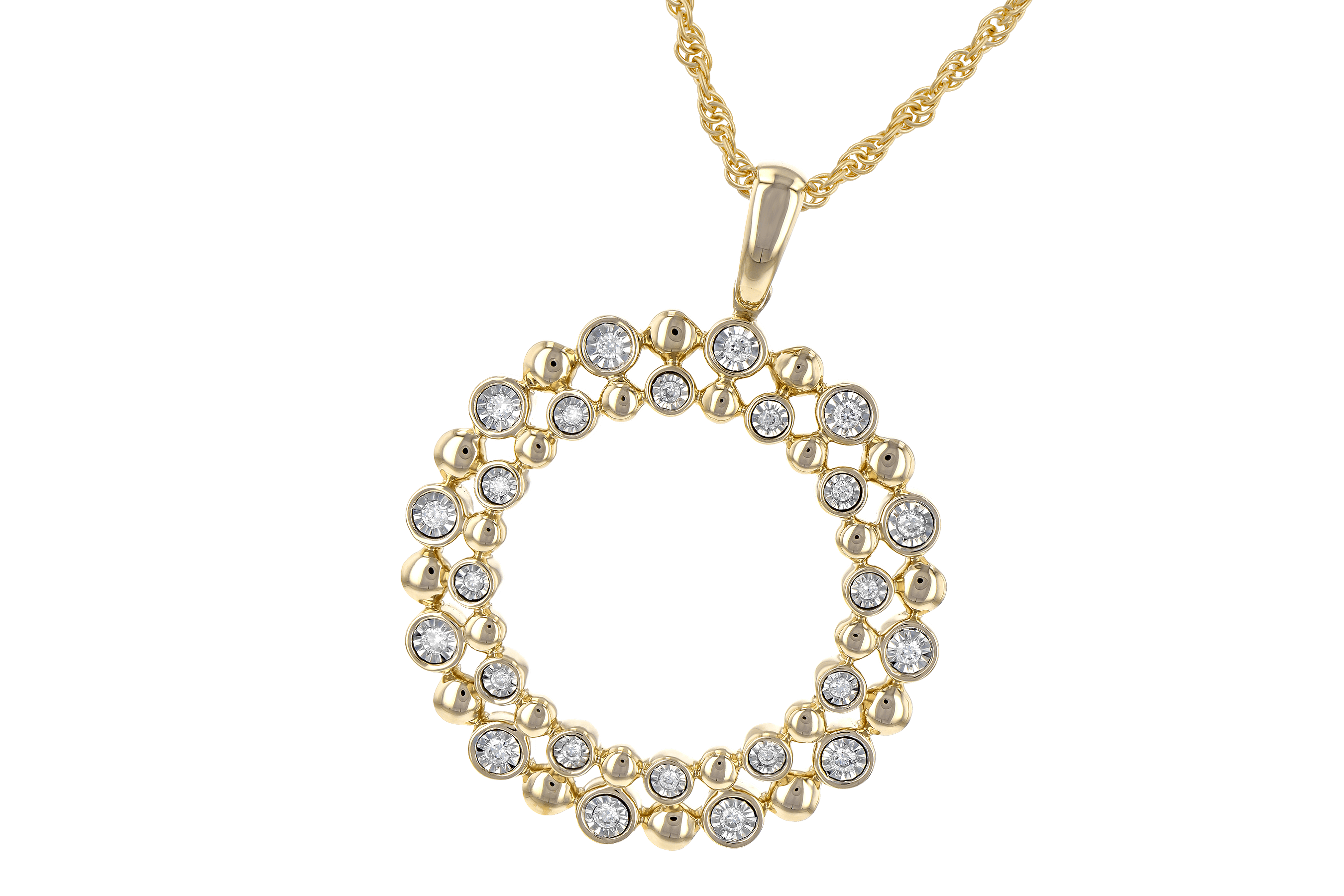 G190-14285: NECKLACE .12 TW