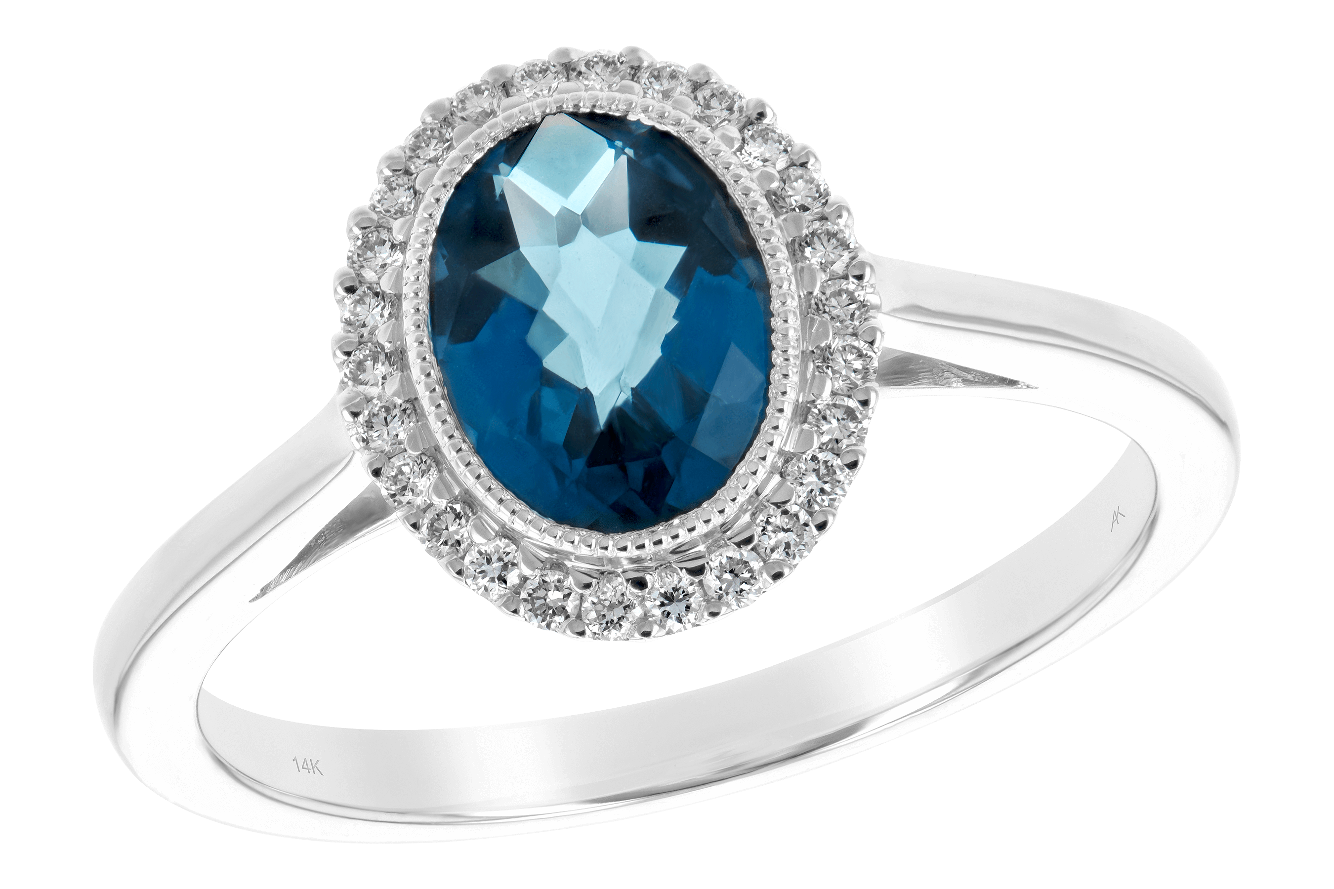 K189-19749: LDS RG 1.27 LONDON BLUE TOPAZ 1.42 TGW