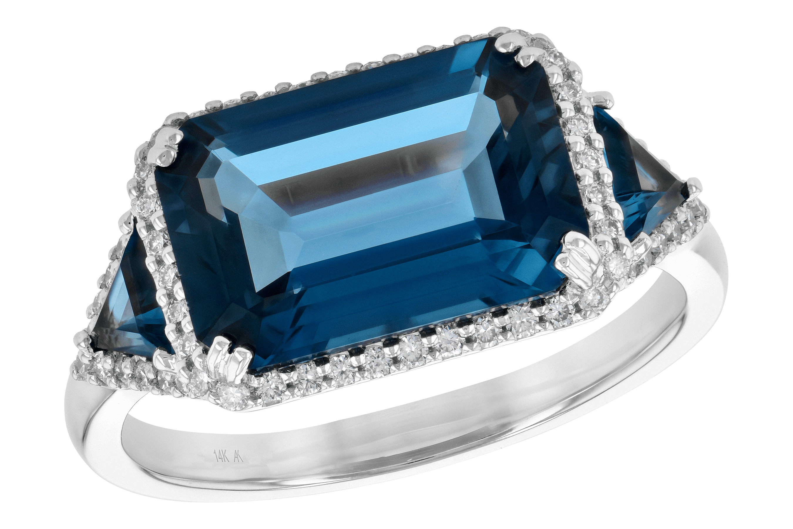 K190-11585: LDS RG 4.60 TW LONDON BLUE TOPAZ 4.82 TGW